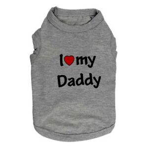 Boy Dog Shirt Small Dog Clothes I Love My Mommy Daddy Size Small to Medium XS S