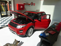 Red Land Range Rover Evoque Welly 1:24 Scale Diecast Detailed Interior Model Car