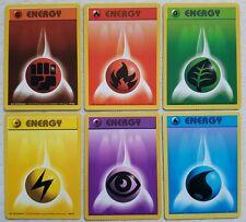 Pokemon ~ Complete Basic 6 Energy Cards ~ Base Set ~