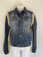 Vintage MOSCHINO JEANS two toned Denim Jacket sz 44/ US 10 M