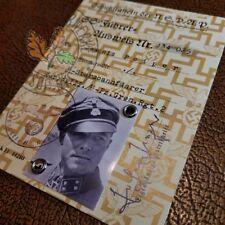 SS Ausweis (Identification Document) for German Waffen Officer - Jochen Peiper