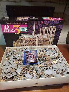 PUZZ 3D Notre Dame Cathedral Puzzle 952 Pieces Milton Bradley