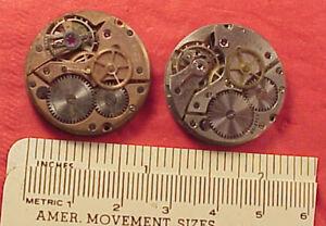 WW2 era Tissot Watch MOVEMENT  Cal 27 P C 1943-44 WRISTWATCH PARTS 2 MVTS
