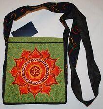 New Fair Trade Shoulder Bag - Hippy Hippie Ethical Ethnic Nepal Om Lotus