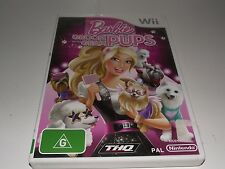 Barbie Groom and Glam Pups Nintendo Wii PAL *Complete*