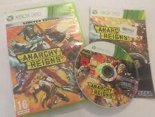 XBOX 360 GAME ANARCHY REIGNS By SEGA +BOX & INSTRUCTIONS COMPLETE PAL TESTED