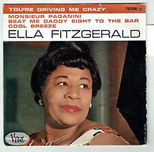 Ella FITZGERALD Vinyle 45T EP YOU'RE DRIVING ME CRAZY - VERVE BARCLAY 70398 RARE