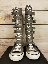 Converse Chuck Taylor All Star Grey Knee High Buckle Shoes Men 9.5 Women 11.5
