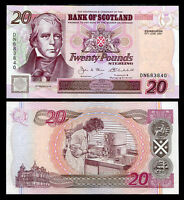 SCOTLAND 20 POUNDS 2001 P 121 AUNC SEE SCAN