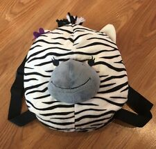 Kids Zebra Backpack Plush Soft Cute School Bag Animal Zoo