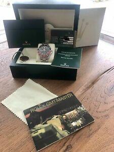 Armbanduhr Rolex GMT Master 2 II Stahl Ref 16710 Coke