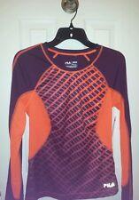 New FILA SPORT Performance Running Tee Shirt Long Sleeve Women's size XS