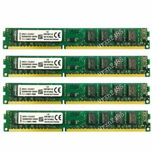 32GB 4x 8GB PC3-12800U DDR3 1600MHz DIMM Desktop PC Memory kit For Kingston UK