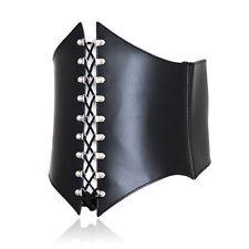 Faux Leather Adjustable Waist Corset