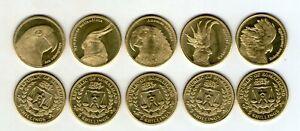 """✔ Somaliland 5 shillings 2020 """"Parrots"""" Fauna UNC Set 5 pcs"""
