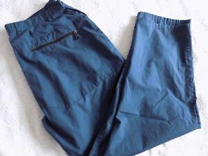 "ROHAN BAGS IN DARK BLUE~WAIST 40"" 30.5"" LEG~SUN PROTECTION~LOTS OF POCKETS!"