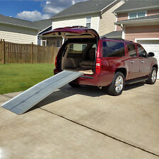 7' GRIP TAPE ALUMINUM FOLDING WHEELCHAIR RAMP: portable 6 8 ft foot multi fold