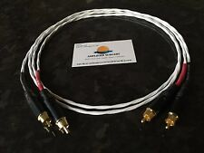 3FT SILVER PLATED PHONO RCA INTERCONNECT CABLE ACCUPHASE or KRELL AMPLIFIERS USA