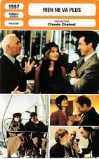 FICHE CINEMA : RIEN NE VA PLUS - Huppert,Serrault,Cluzet,Chabrol1997 The Swindle