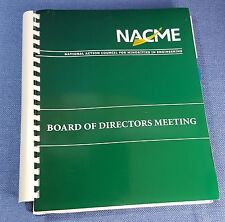 Council for Minorities in Engineering NACME Board of Directors Meeting 2009 book