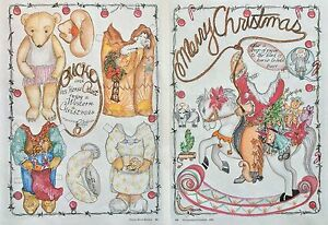 Bucko & his Horse Teddy Bear Paper Doll, 1992, By Marianne Anderson, Mag. PD