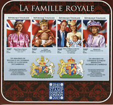 Togo Royalty Stamps 2015 Mnh Royal Family Europhilex Princess Diana 4v M/S