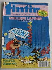 JOURNAL TINTIN N°666 WILLIAM LAPOIRE POSTER CHATEAUX FORTS LE BIG BAGNE 1988