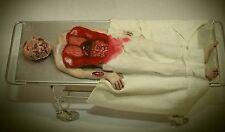 Doll miniature handcrafted Medical Hospital Asylum Morgue Autopsy body 1/12th