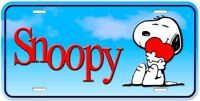 Snoopy Dog Aluminum Novelty Auto Car License Plate