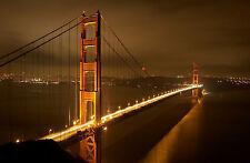 Incorniciato stampa-Golden Gate Bridge San Francisco in California (foto poster arte)