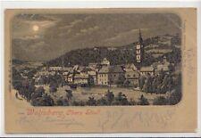 74657/94- Mondschein Ak Wolfsberg obere Stadt in Känten 1899