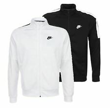 Nike Mens Tribute Full Zip Top Track Jacket Black/White