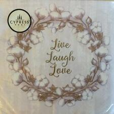 PAPER NAPKINS / SERVIETTES PACK OF 20 LIVE LOVE LAUGH AND BLOSSOM DESIGNS 3PLY