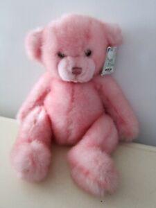 "CUTE BEARY FRIENDS by A&A PLUSH INC PINK TEDDY BEAR DOLL 12.5"" w tag"