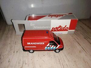 Véhicule Miniature De Pompiers SOLIDO : Peugeot Boxer Brandweer #19