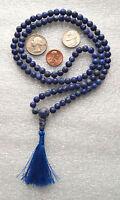Sodalite 8mm 108+1 Handmade Bhakti Meditation Mala Beads Necklace - Energized