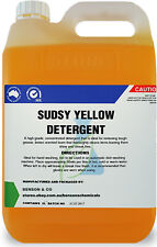 5 Litre Sudsy Yellow Detergent - Concentrated Sink Dish Washing Soap 5L