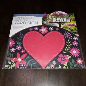 Yard DeSigns by Studio m Magnetic Yard Art Sign Love Everywhere Made in USA NEW