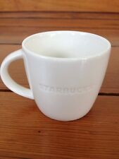 "2011 Starbucks Japanese White Ceramic Demitasse Espresso Coffee Cup 2.25"" Tall"