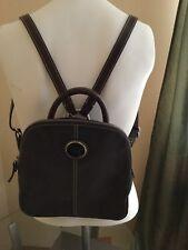 Vintage Dooney & Bourke Brown Pebbled Leather Backpack