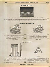 1910 ADVERT 2 Images Of Railroad Bicycle Attachments Ride the Rails Myers Stand