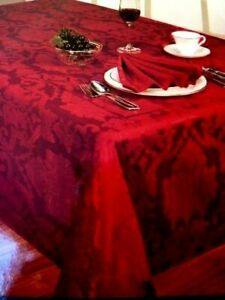 Waterford Marquid 21 or 25 Table Linen Set - Tablecloth, Place Mats, Napkins NIP