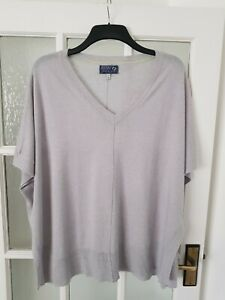 JOULES Oversized Lightweight  Linen Blend  Top Poncho Style  Size S/M