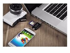 MICRO USB OTG 2 USB 2.0 Adapter SD/Micro SD Card Reader with standard USB Male