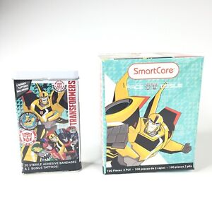 Transformers Get Well Kids Gift Set includes Bandages Tissues and Tattoos NEW