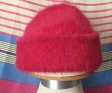 INFANT BABY GIRL HAT CAP PINK, 57% RABBIT HAIR, 6 TO 24 MONTHS
