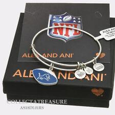 Authentic Alex and Ani Detroit Lions Football (ii) Rafaelian Silver Bangle