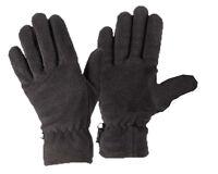 Polar Fleece Gloves Black Thermal