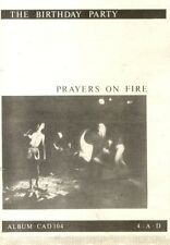 11/4/1981Pg46 Album Advert 7x5 Birthday Party, The - Prayers On Fire