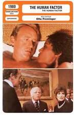 FICHE CINEMA : THE HUMAN FACTOR  Attenborough,Preminger1980 La Guerre des Otages